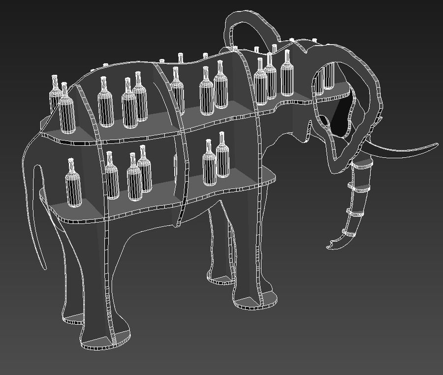 Shelf animal elephant royalty-free 3d model - Preview no. 8