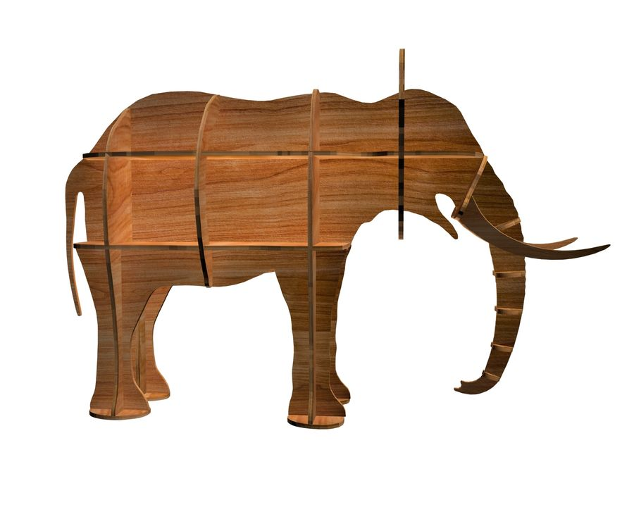 Shelf animal elephant royalty-free 3d model - Preview no. 4