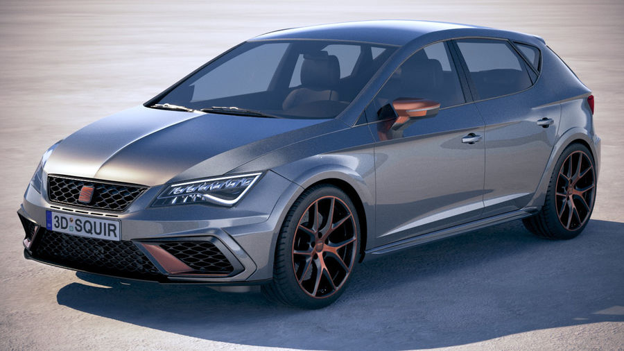 seat leon cupra r 2018 3d model 129 obj max lwo fbx c4d 3ds free3d. Black Bedroom Furniture Sets. Home Design Ideas