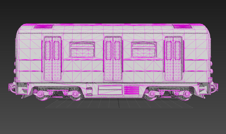 Train Car royalty-free 3d model - Preview no. 4