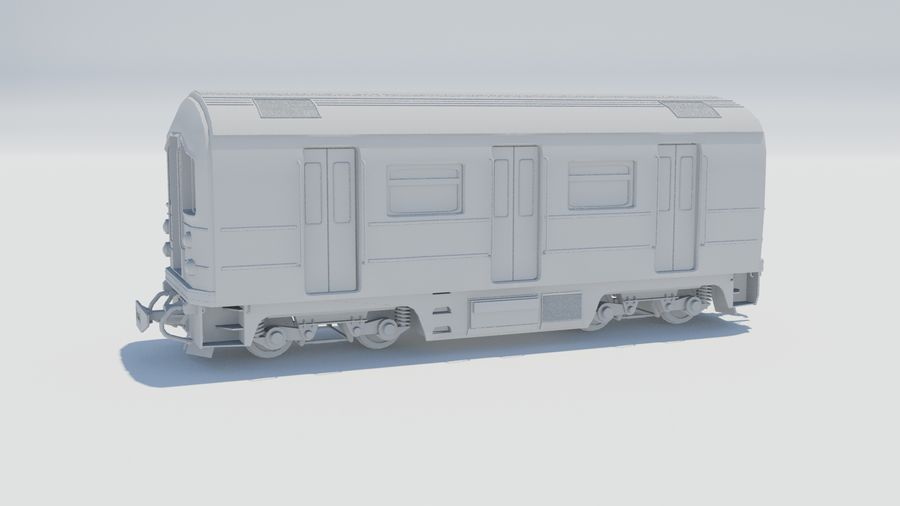 Train Car royalty-free 3d model - Preview no. 1