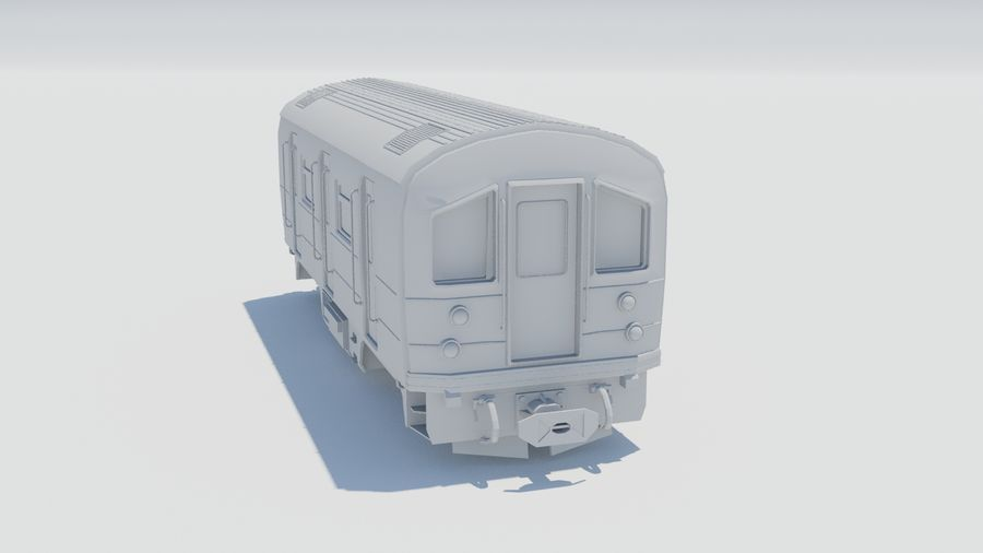 Train Car royalty-free 3d model - Preview no. 2