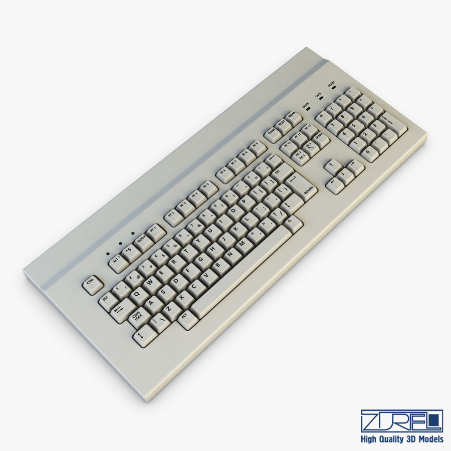 Keyboard v 1 royalty-free 3d model - Preview no. 3