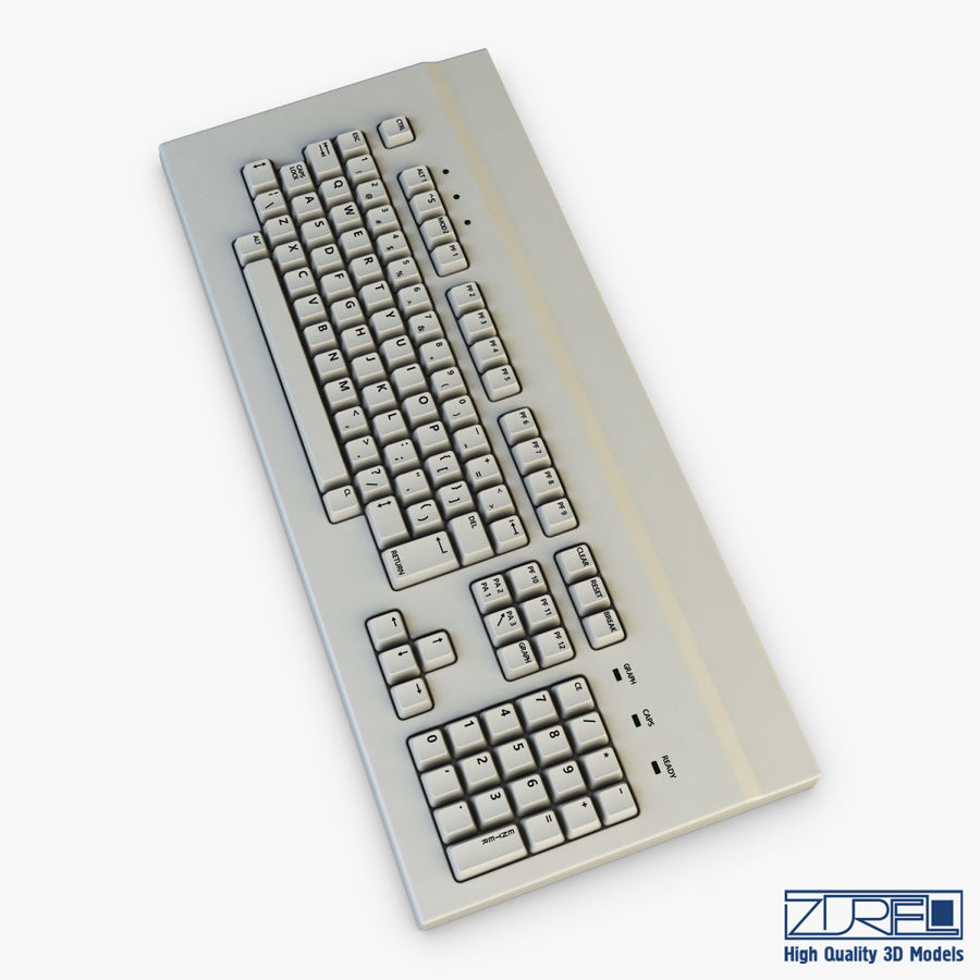 Keyboard v 1 royalty-free 3d model - Preview no. 4