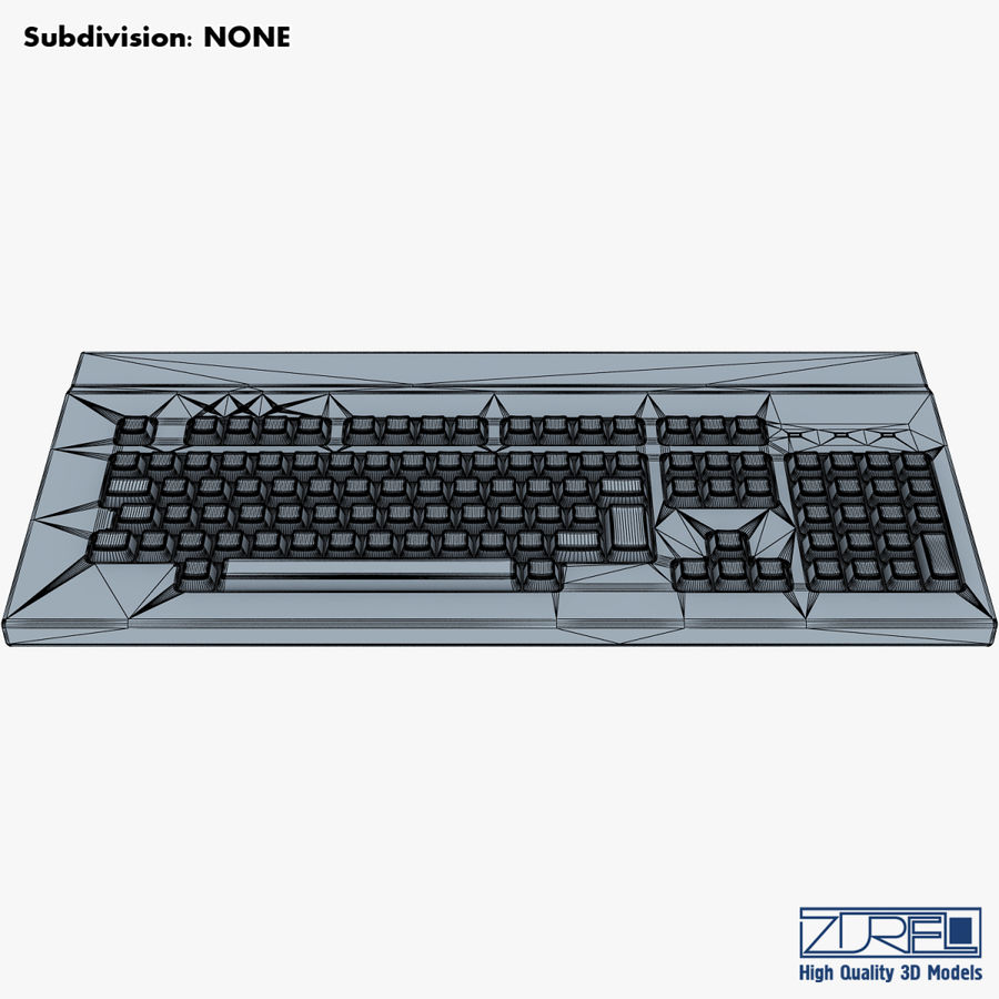 Keyboard v 1 royalty-free 3d model - Preview no. 18
