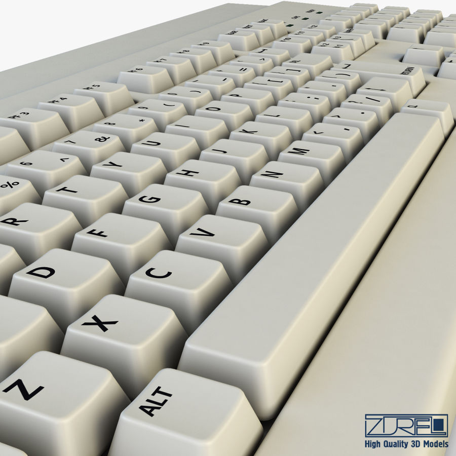 Keyboard v 1 royalty-free 3d model - Preview no. 13