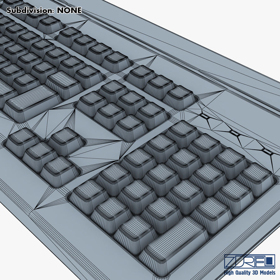 Keyboard v 1 royalty-free 3d model - Preview no. 22