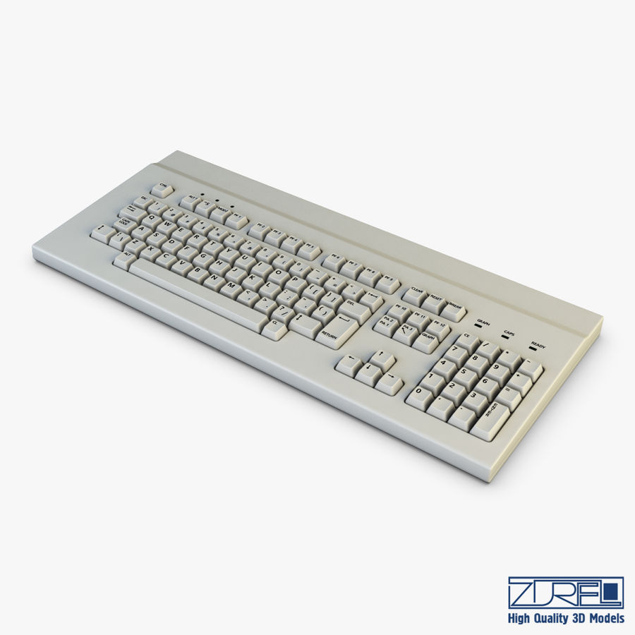 Keyboard v 1 royalty-free 3d model - Preview no. 1