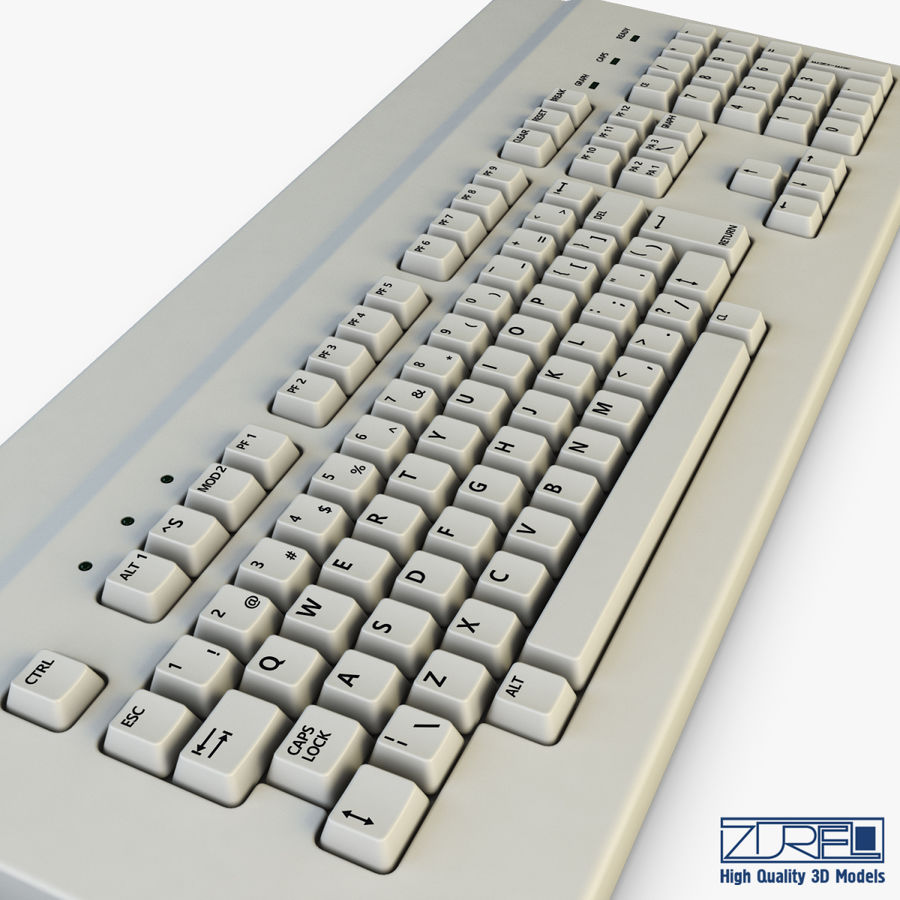 Keyboard v 1 royalty-free 3d model - Preview no. 12