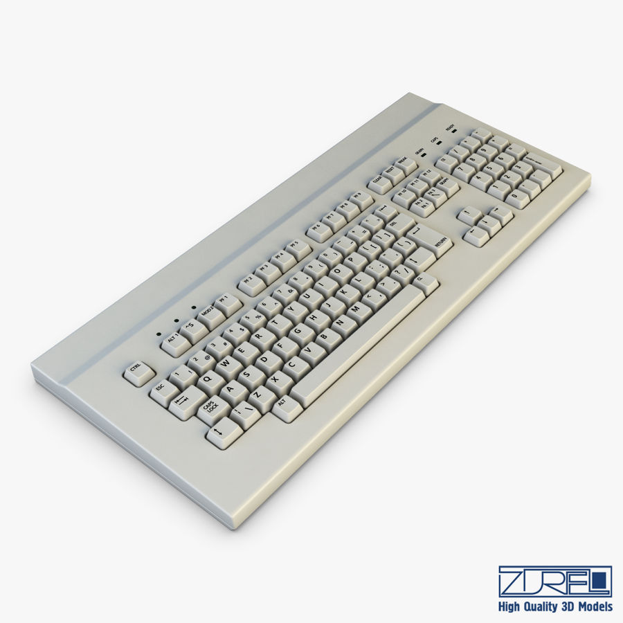 Keyboard v 1 royalty-free 3d model - Preview no. 5