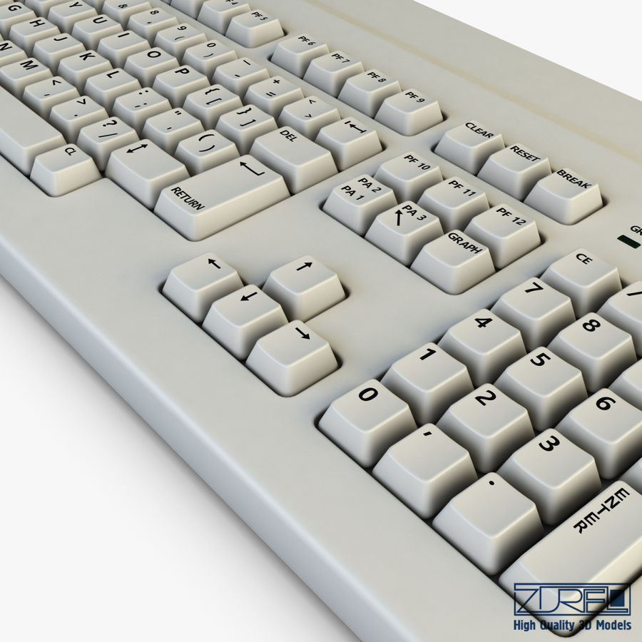 Keyboard v 1 royalty-free 3d model - Preview no. 11