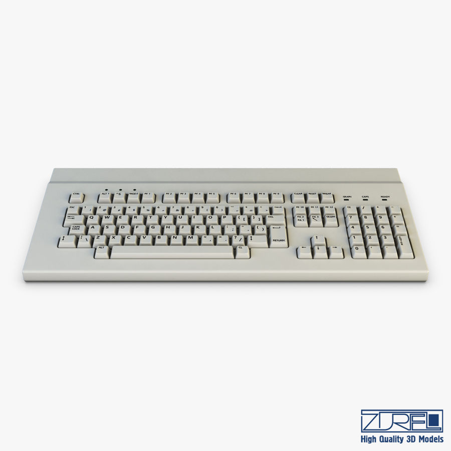 Keyboard v 1 royalty-free 3d model - Preview no. 7