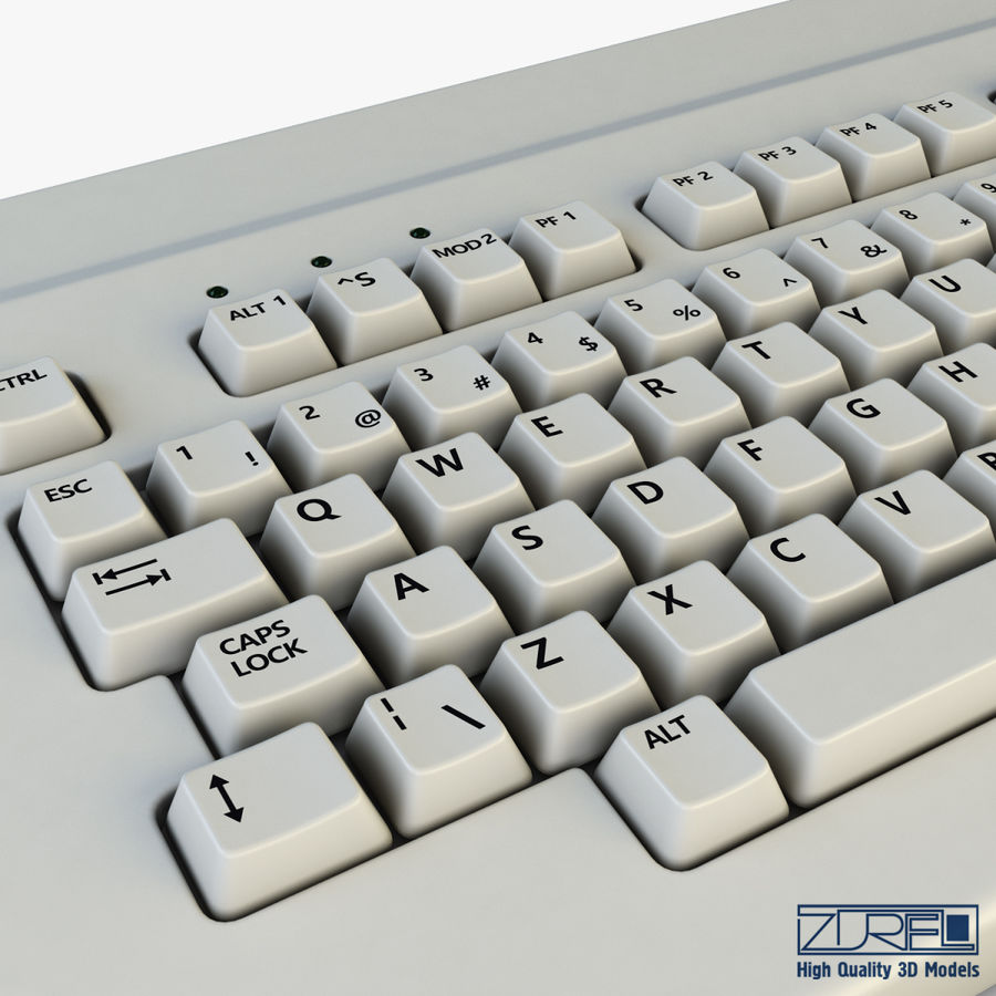 Keyboard v 1 royalty-free 3d model - Preview no. 14