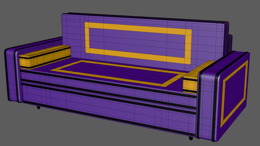 Leather Sofa V1 royalty-free 3d model - Preview no. 8
