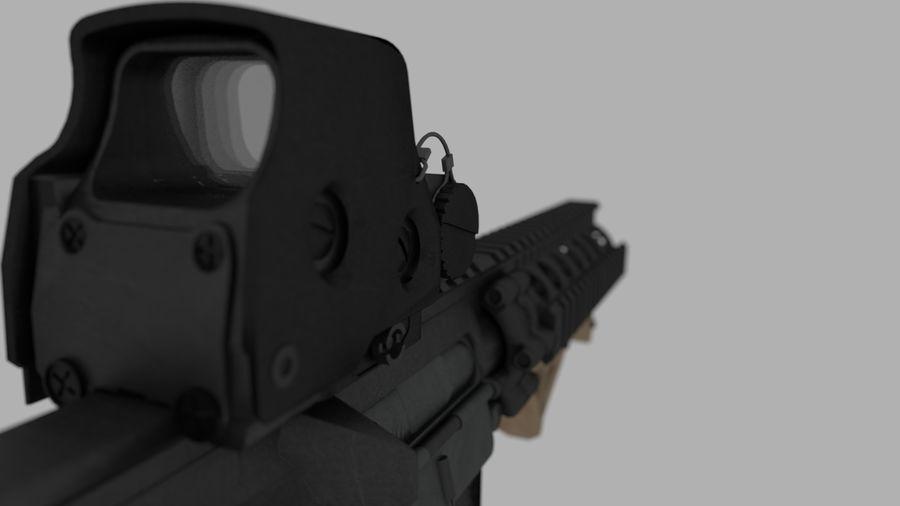 mk18 SBR royalty-free 3d model - Preview no. 3