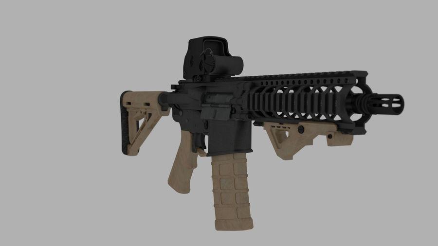 mk18 SBR royalty-free 3d model - Preview no. 1