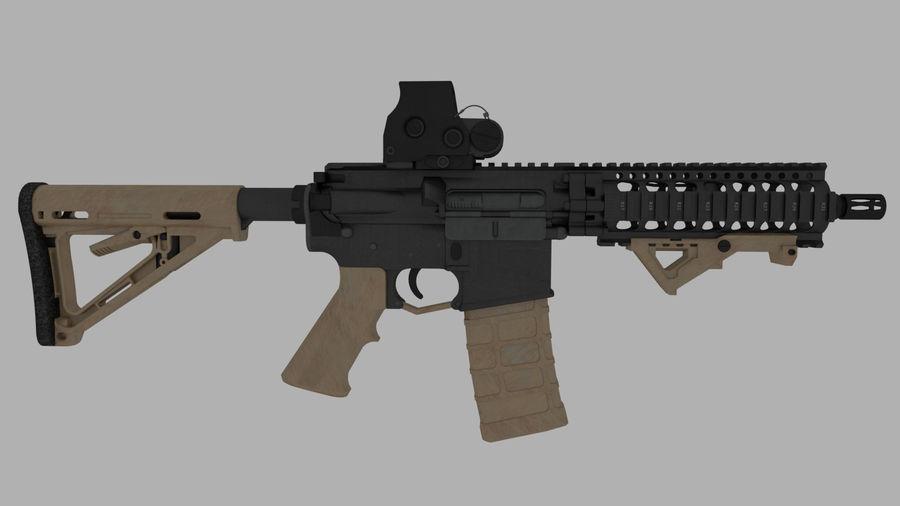 mk18 SBR royalty-free 3d model - Preview no. 4