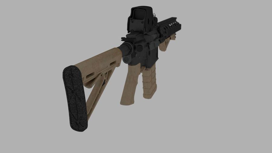 mk18 SBR royalty-free 3d model - Preview no. 2
