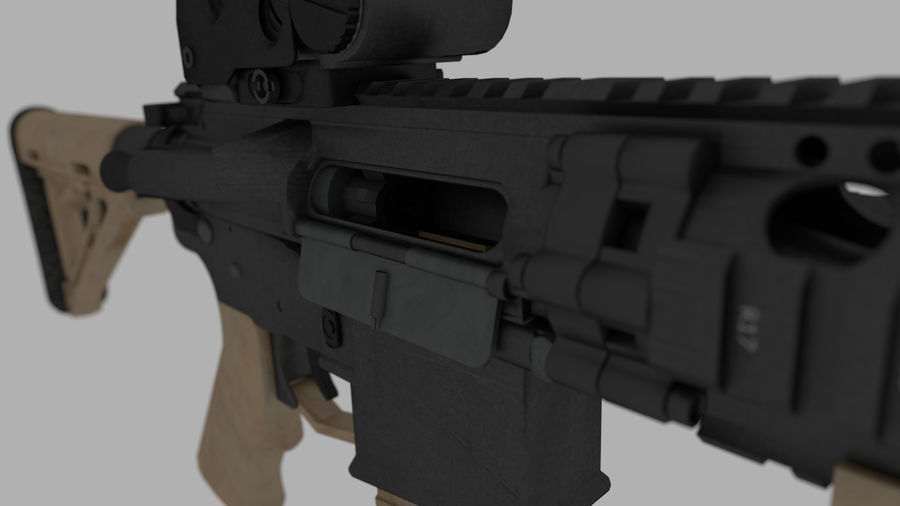 mk18 SBR royalty-free 3d model - Preview no. 5