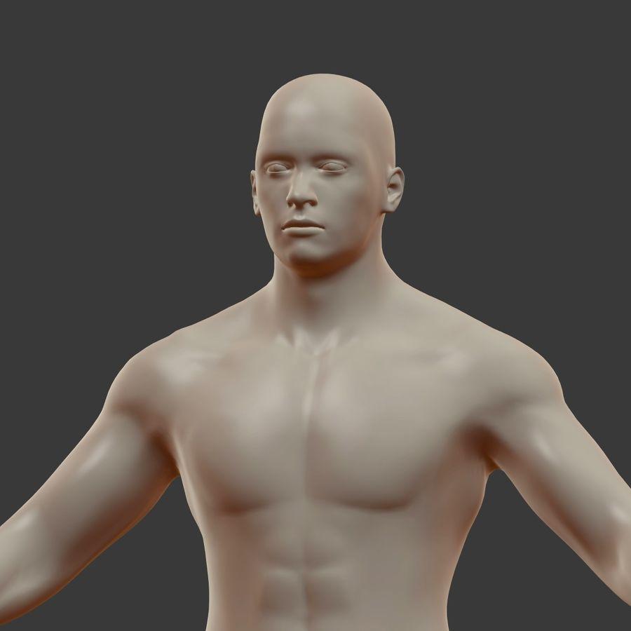 Man 3D royalty-free 3d model - Preview no. 16