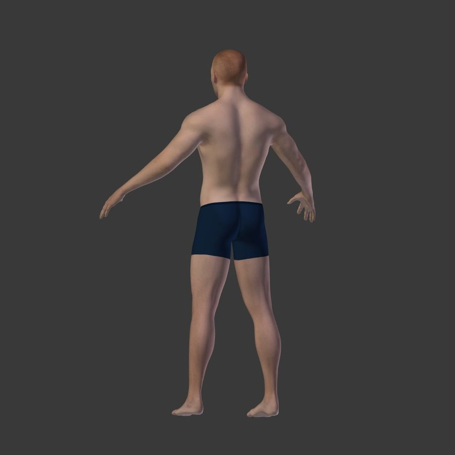 Man 3D royalty-free 3d model - Preview no. 21
