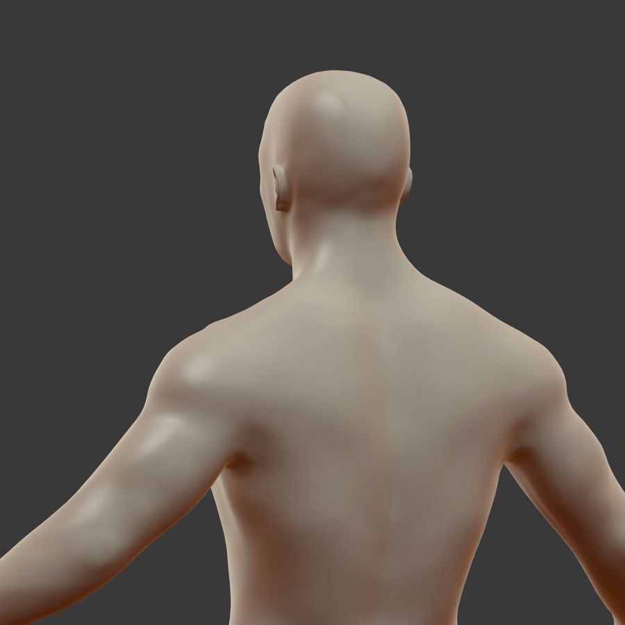 Man 3D royalty-free 3d model - Preview no. 19