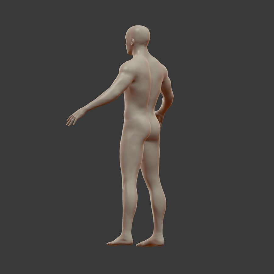 Man 3D royalty-free 3d model - Preview no. 14