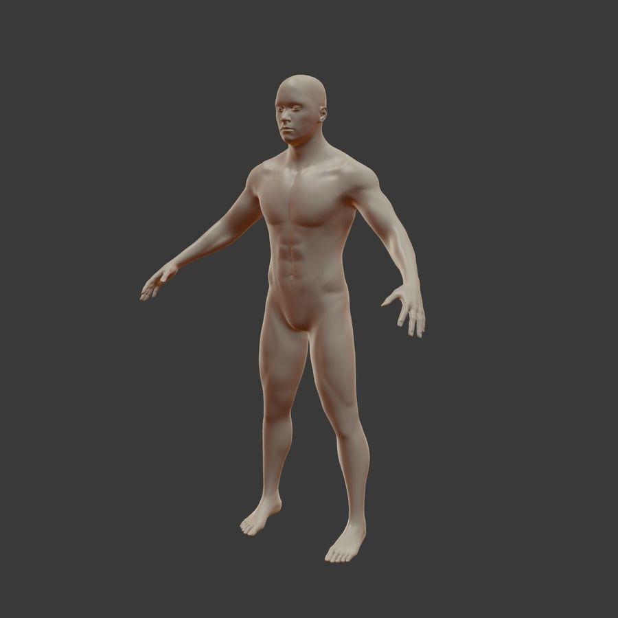 Man 3D royalty-free 3d model - Preview no. 13