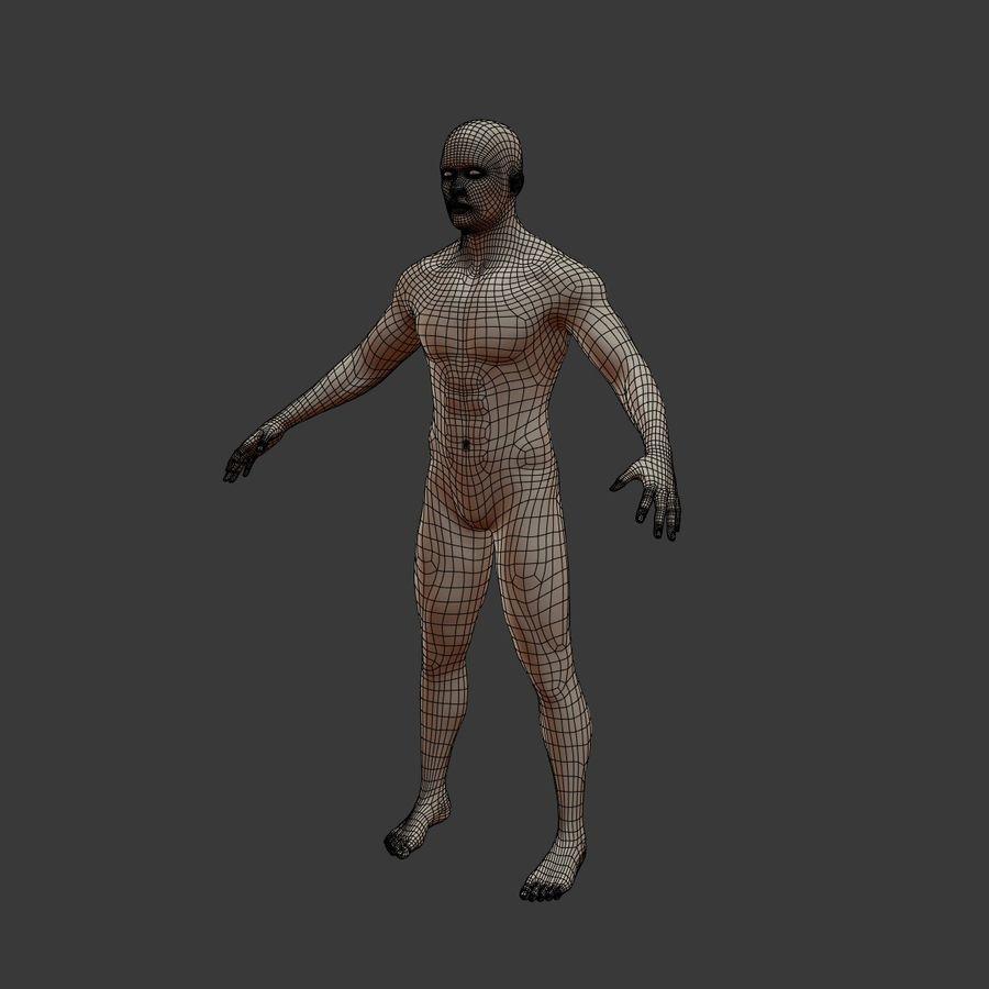 Man 3D royalty-free 3d model - Preview no. 12