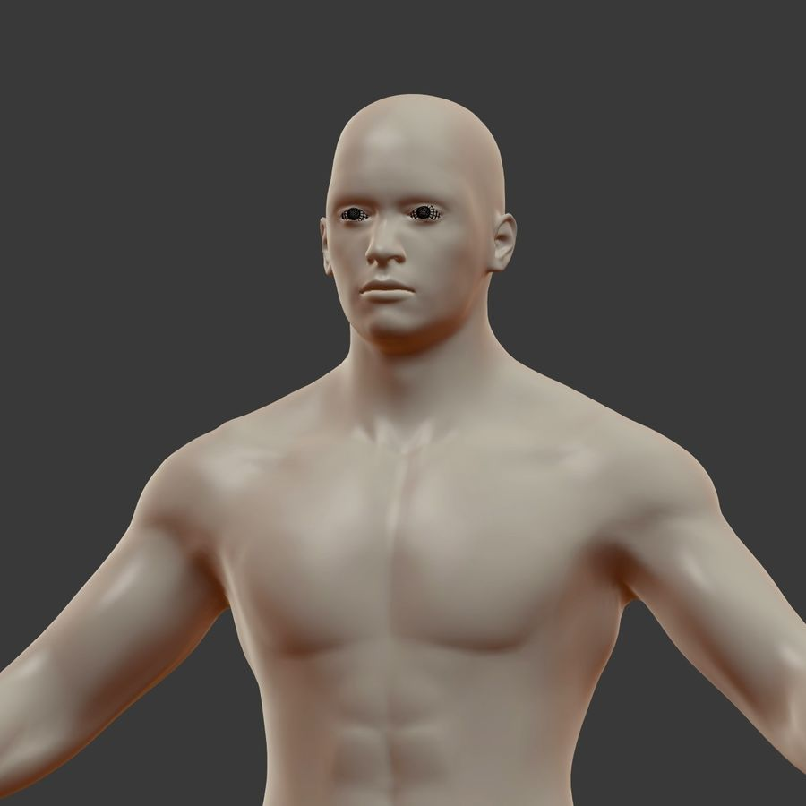 Man 3D royalty-free 3d model - Preview no. 18
