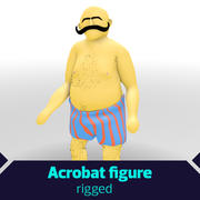 Rigged Fat Acrobat 3d model