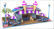 Ice Cream Shop Cartoon 3d model