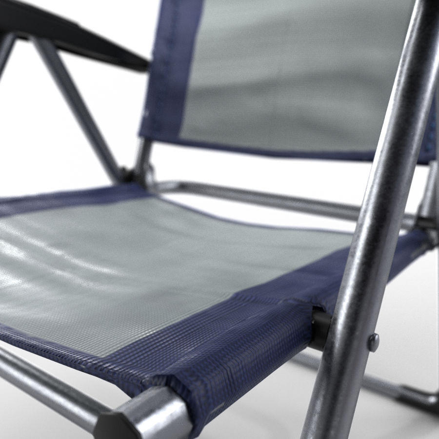 camping chair new royalty-free 3d model - Preview no. 5