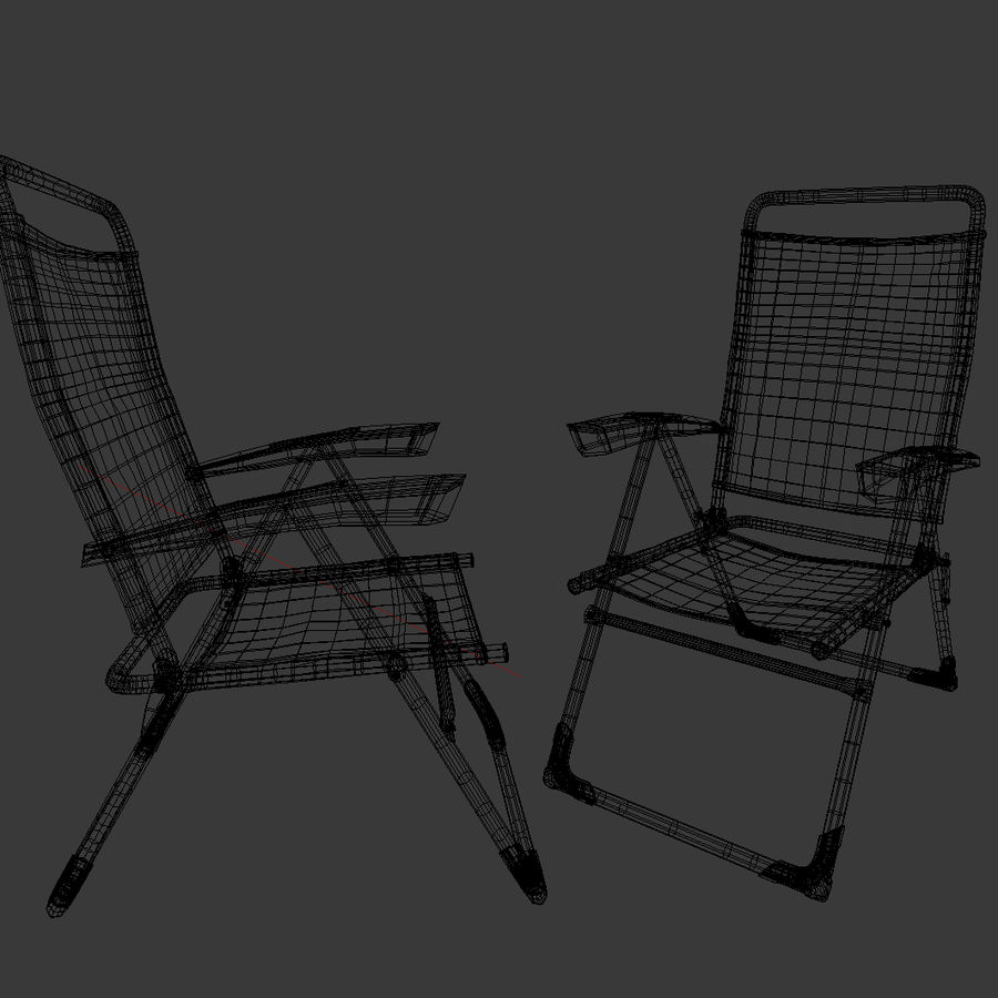 camping chair new royalty-free 3d model - Preview no. 6
