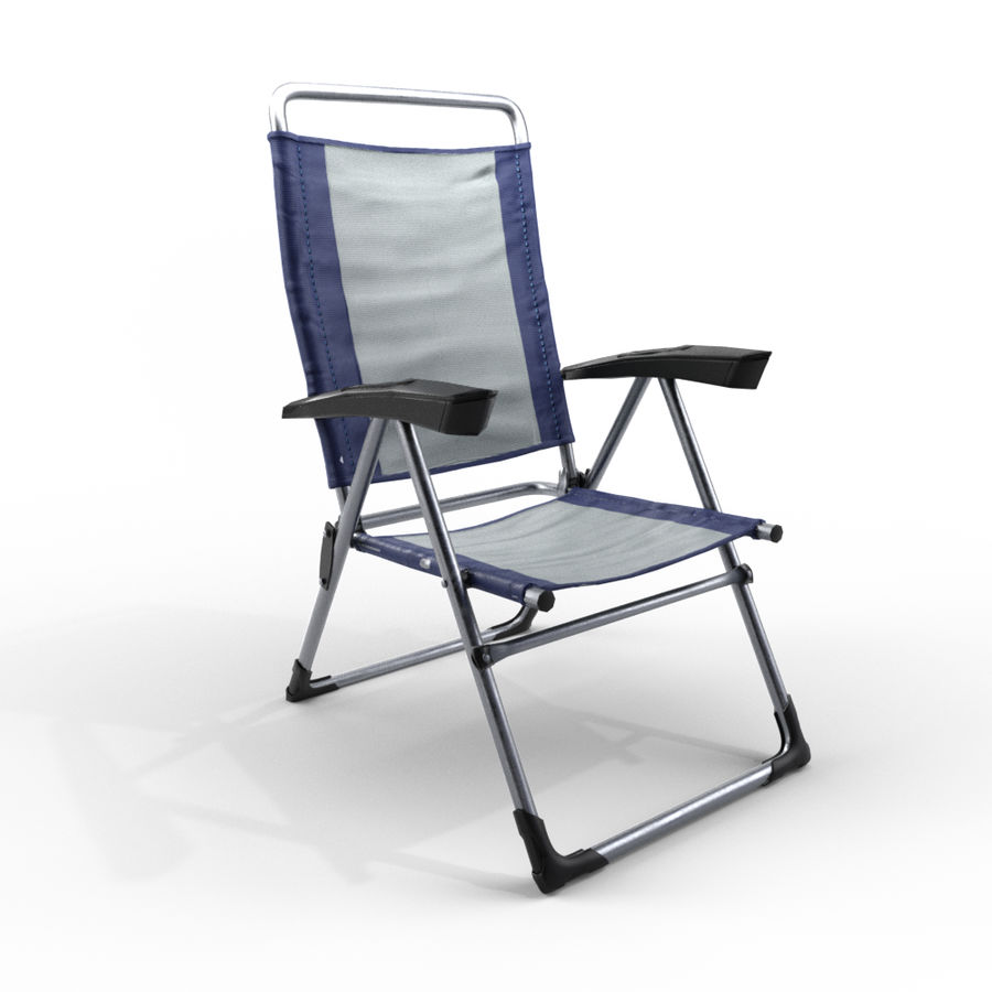 camping chair new royalty-free 3d model - Preview no. 1