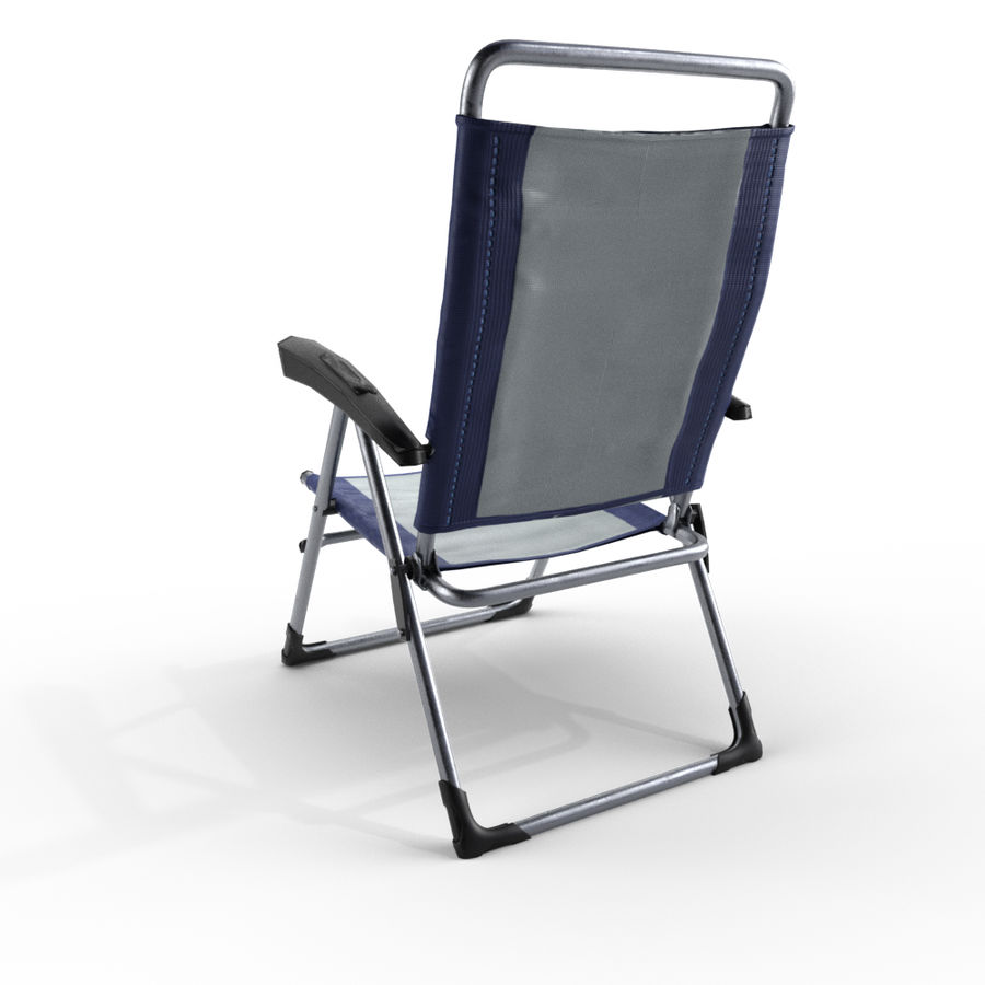 camping chair new royalty-free 3d model - Preview no. 4