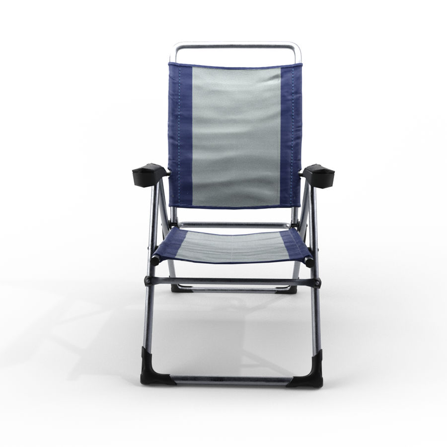 camping chair new royalty-free 3d model - Preview no. 2