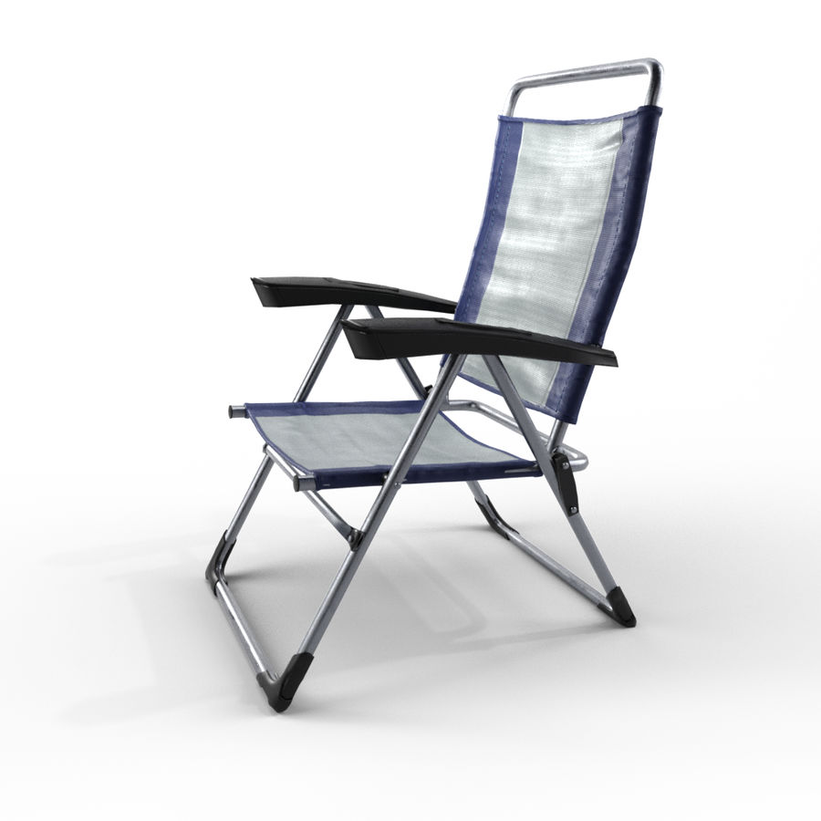 camping chair new royalty-free 3d model - Preview no. 3