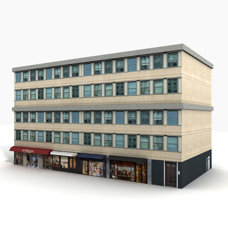 City Building 1 royalty-free 3d model - Preview no. 1