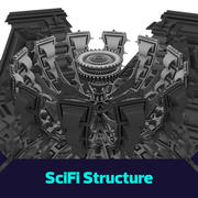 Scifi mega-structure 3d model