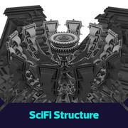 Scifi megaestructura modelo 3d
