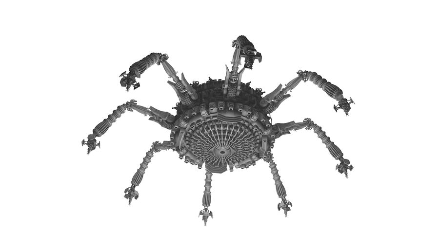 SciFi Robot Spacecraft Spider royalty-free 3d model - Preview no. 9