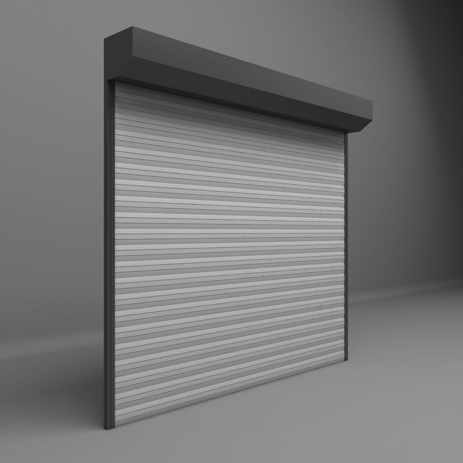 Garage Door Electric Roller Shutters 3d Model 19