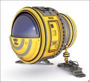 Научно-фантастический космический корабль 3d model