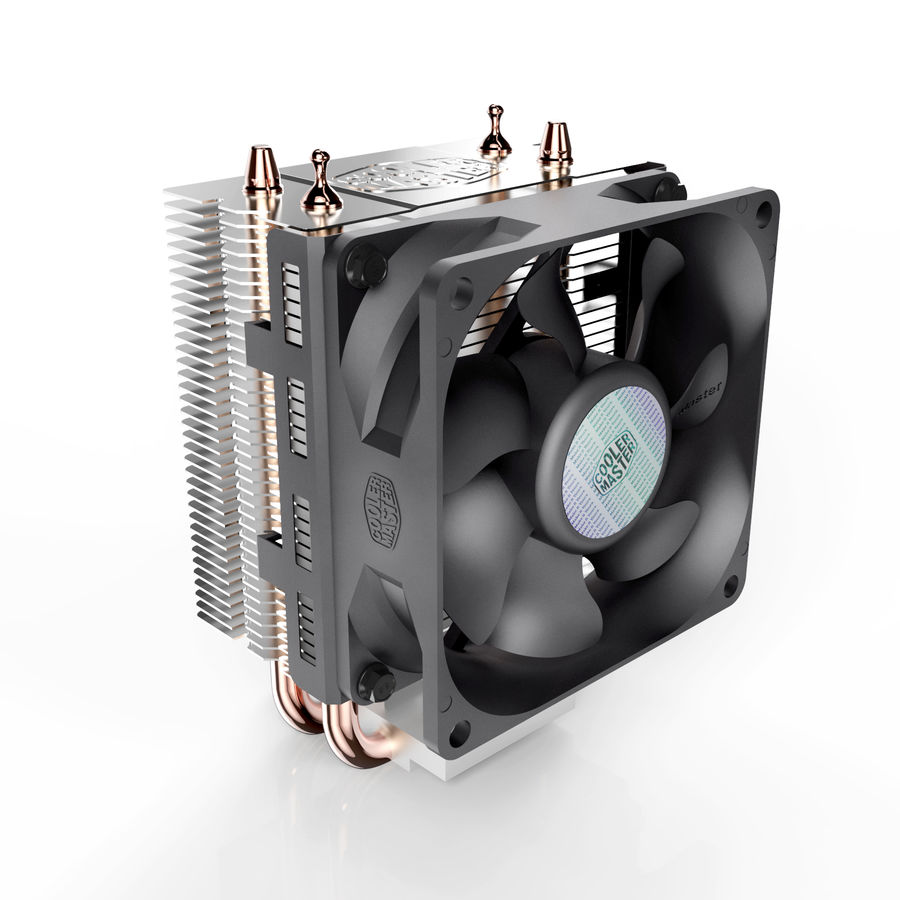 PC cooling fan royalty-free 3d model - Preview no. 4
