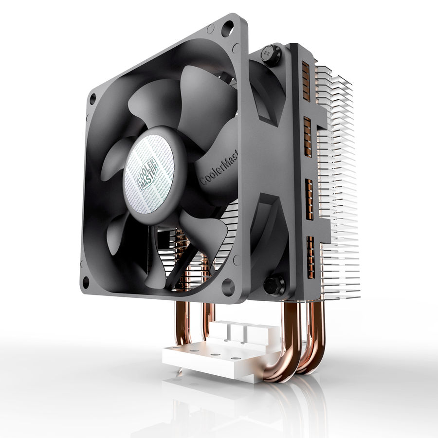 PC cooling fan royalty-free 3d model - Preview no. 2