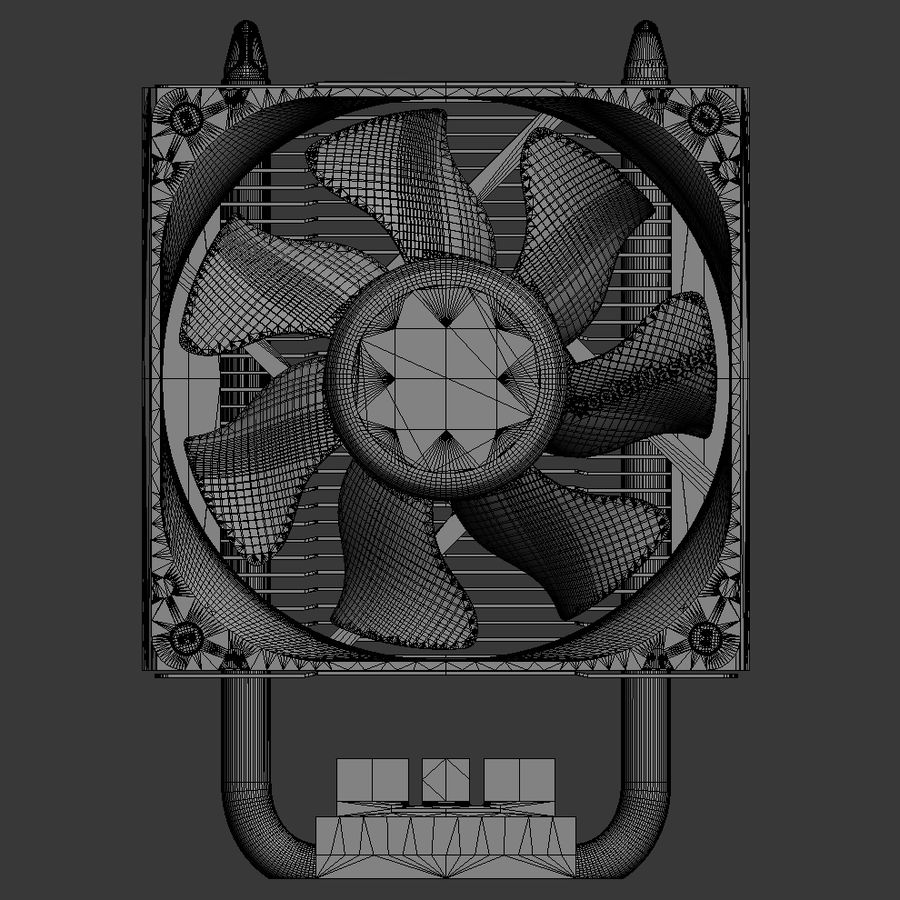 PC cooling fan royalty-free 3d model - Preview no. 7