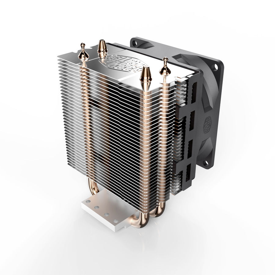 PC cooling fan royalty-free 3d model - Preview no. 3