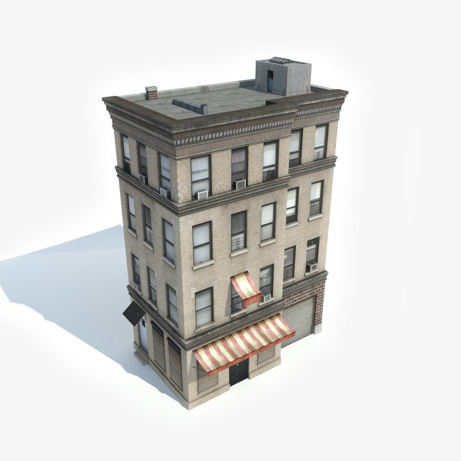 Great Apartment Building 13 Royalty Free 3d Model   Preview No. 2