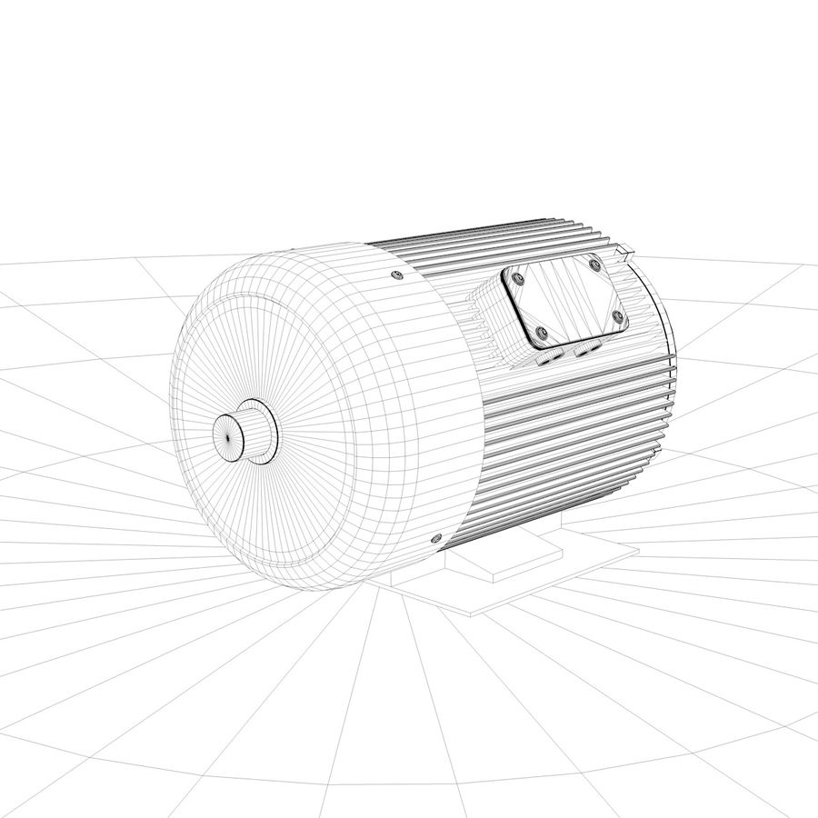 silnik elektryczny royalty-free 3d model - Preview no. 5